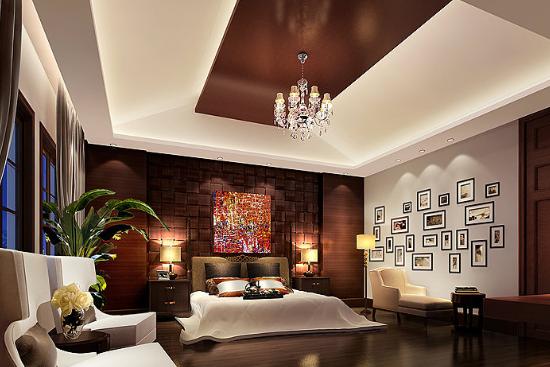 2016欧式卧室背景墙颜色搭配效果图