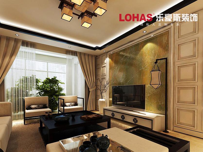 中式客厅吊顶效果图图片