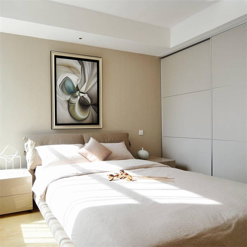 日式卧室背景墙效果图