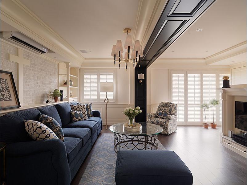 美式客厅吊顶效果图图片