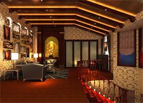欧式客厅照片墙效果图
