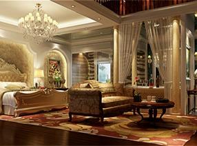 美式风格——别墅样板房设计案例
