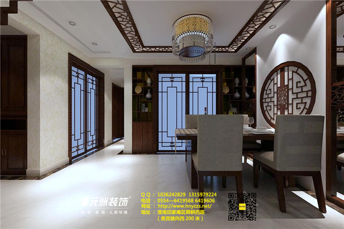 山南印象中式风120平米三居室装修效果图_设计作品图片